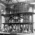 "1910: ""Big Bertha,"" a 20 million gallon per day MGD Bethlehem Triple Expansion High Duty Pumping Engine was installed."